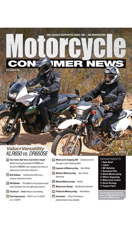 Motorcycle Consumer News screenshot-0