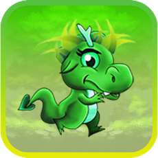 Activities of Cute Dragon Fire Age Jump: Country Escape