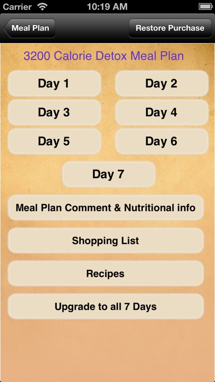 Meal Plans - Detox 7 Day Meal Plans