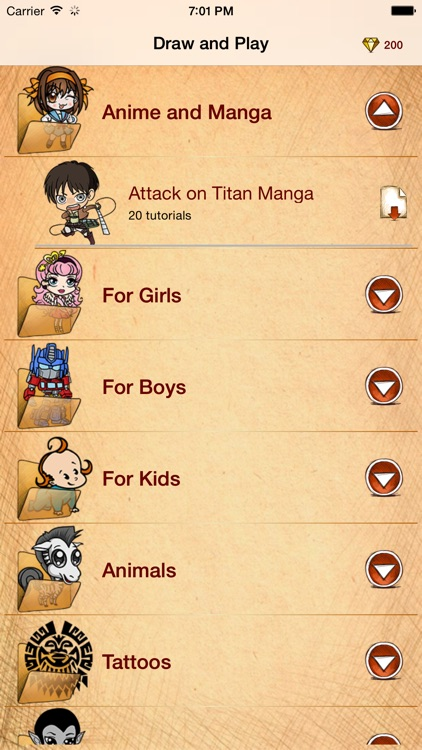 Draw And Play for Attack on the Titan