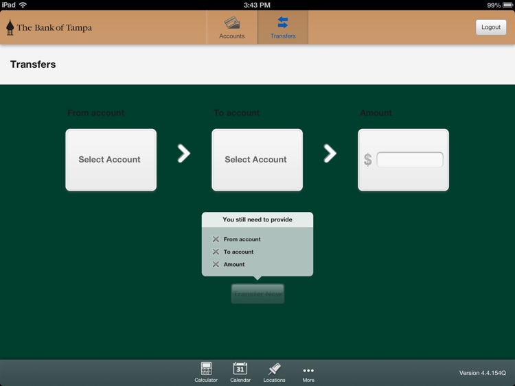 The Bank of Tampa Mobile Banking for iPad screenshot-3