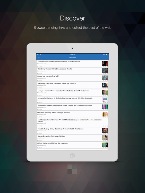Delicious Official App for iPad