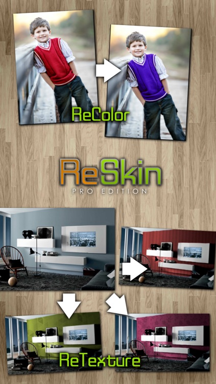 ReSkin - Change Colors and Textures In Your Facebook and Instagram Photos