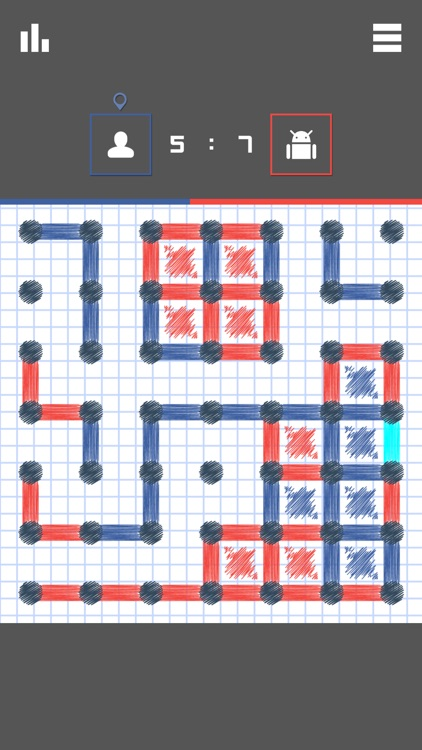 Dots and Boxes 2016 ~ board frenzy game and epic cheating in pocket edition