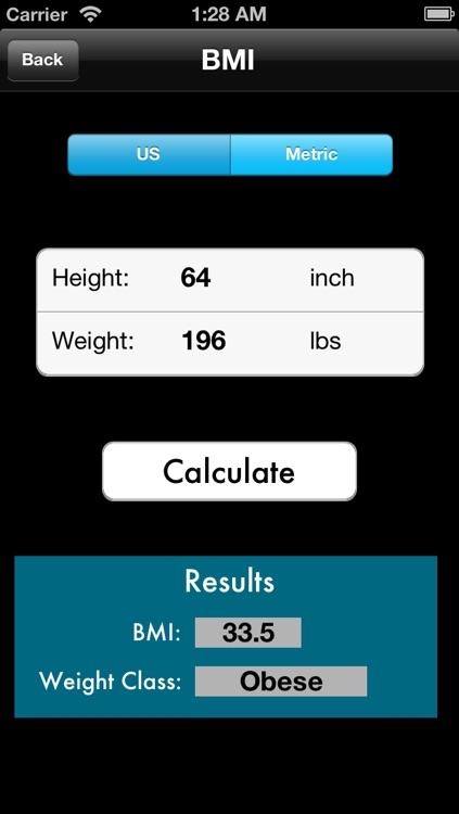 BMI - BMR - Body Fat Percentage Calculator Free