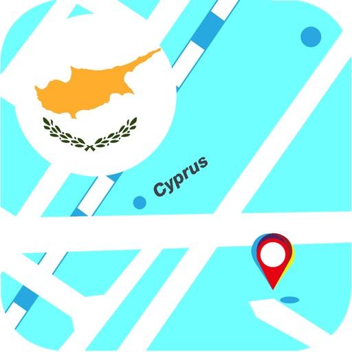 Кипр оффлайновый Карта