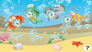 それは何時ですか?子どもたちは海の動物と時計の読み方を学ぶためのゲーム。ゲームや幼稚園、幼稚園や保育園のための演習のおすすめ画像1