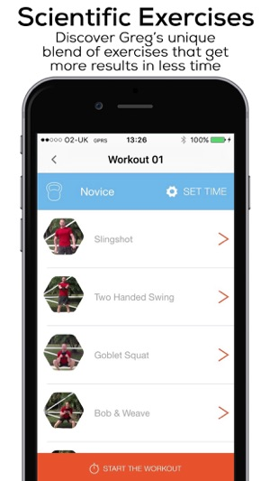 Kettlebell Workout Wizard Screenshot