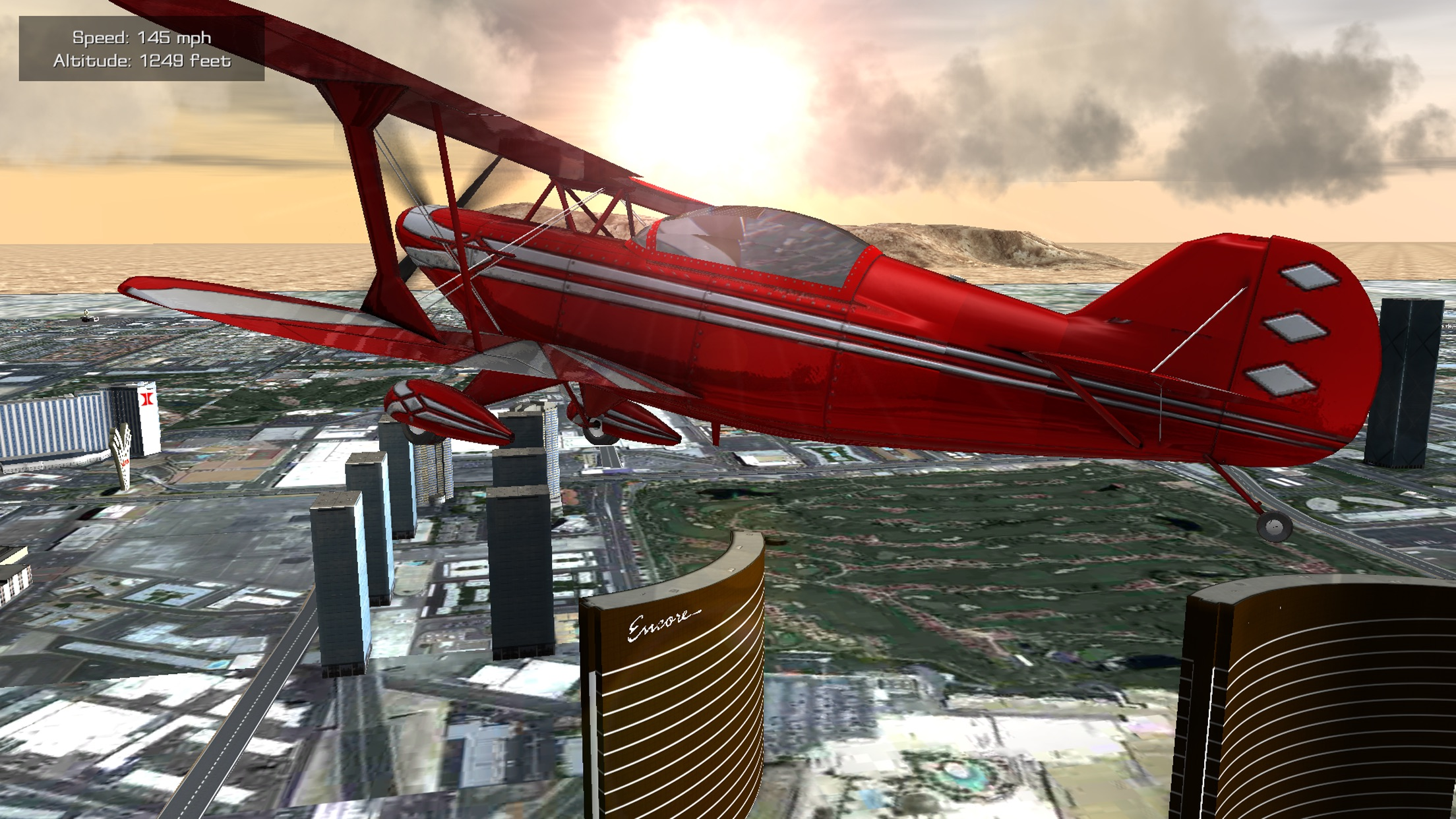 Screenshot do app Flight Unlimited Las Vegas - Flight Simulator