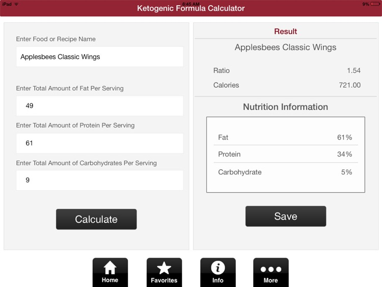Ketogenic Diet Calculator.