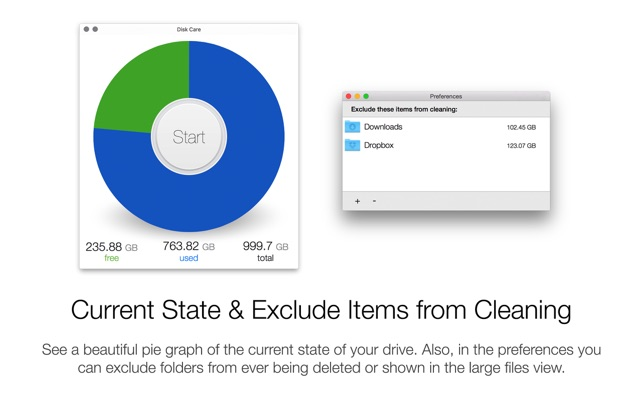 Disk Care - Clean & Create Free Space on your Drive Screenshot