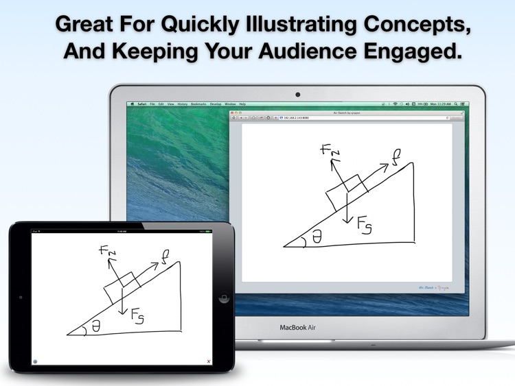 Air Sketch Free: Wireless Smart Whiteboard for Classrooms, Presentations, Meetings, and Collaboration