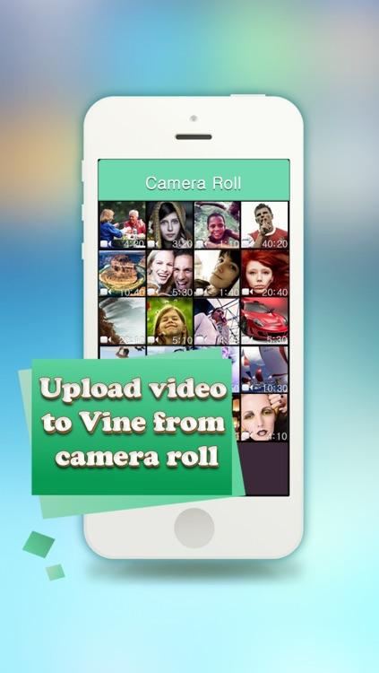 Custom Video Uploader for Vine - Upload custom videos to Vine from your camera roll