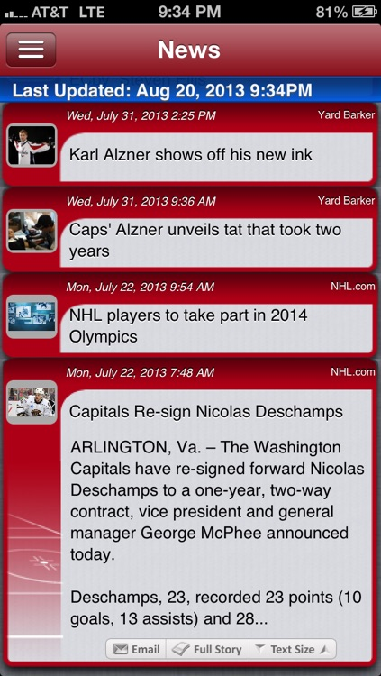 Washington Hockey Live screenshot-3