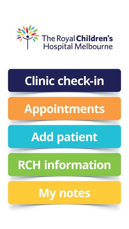 RCH Clinic Check In