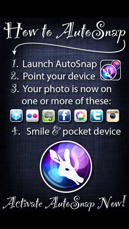 AutoSnap - Automatic Capture & Upload For Facebook, Dropbox, Evernote, Twitter, & Instagram