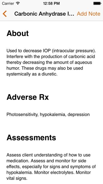 NurseTabs: Pharmacology screenshot-4