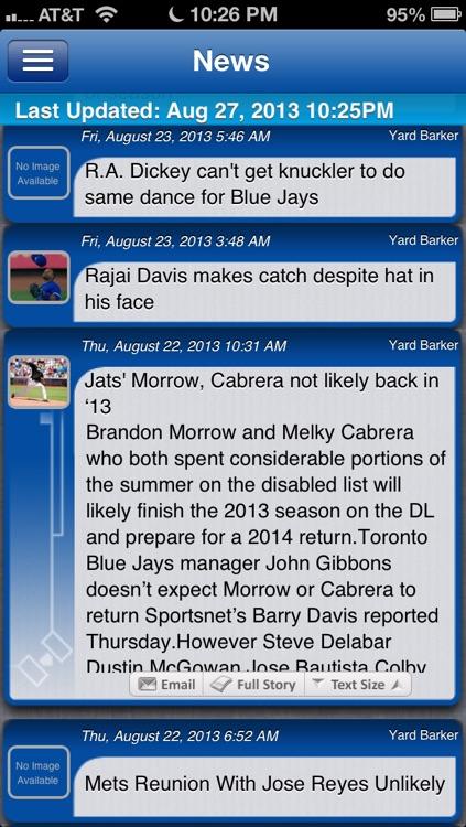 Toronto Baseball Live screenshot-3