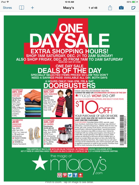 Weekly Circulars, Sales, Deals & Coupon Savings, Ads for Shopping at Target, Walmart, Macy's, Walgreens, Costco, Kmart for iPad screenshot-3
