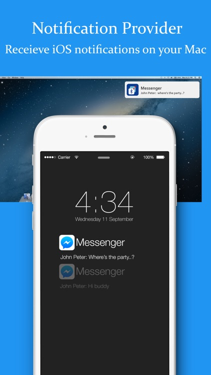 BLE Notification Provider - Receive iOS notification on Mac app image