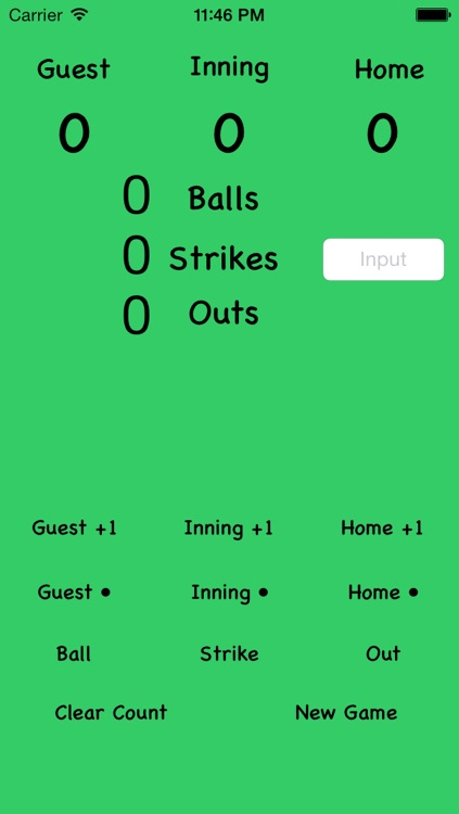 Simple Scoreboard for Baseball