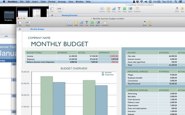 templates for numbers calendar chart schedule budget business and