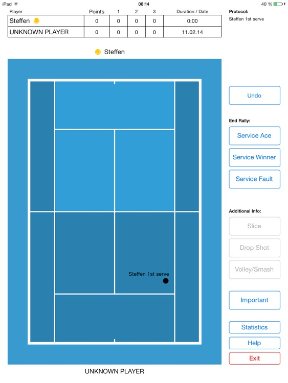 Tennis Analyzer - Scoring and analysing matches. screenshot-4