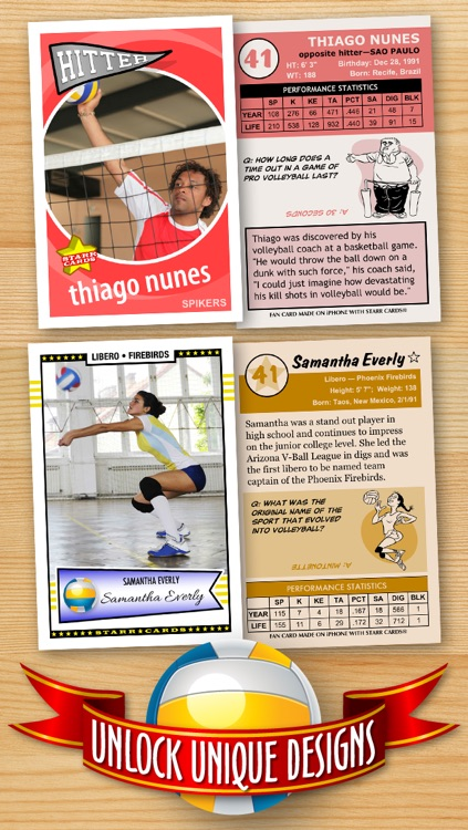 Volleyball Card Maker - Make Your Own Custom Volleyball Cards with Starr Cards