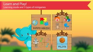 西班牙的孩子與本尼。顏色和數字,問候和家庭,食物,水果,動物和記憶單詞免費的讀音:通過識字學習西班牙語屏幕截圖2