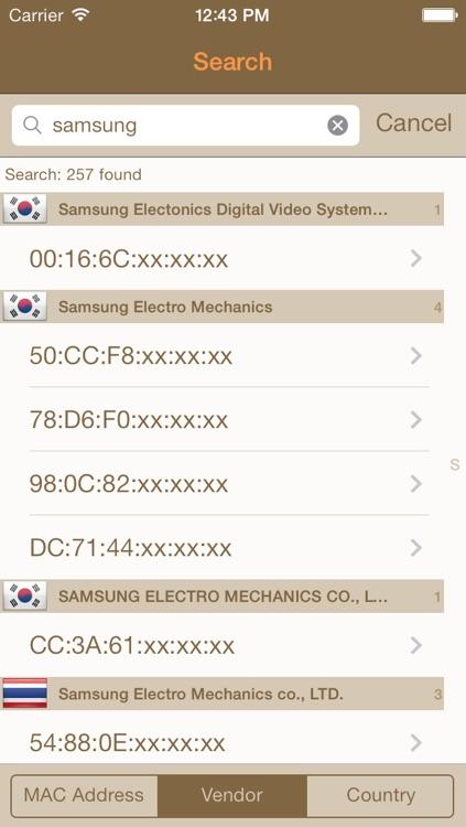 MAC Vendor - MAC address searcher screenshot-3