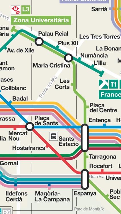 Barcelona travel guide and offline map, metro Barcelona subway train, traffic maps Barcelona Girona Reus airport transport, city bus Barcelona guide trip advisor