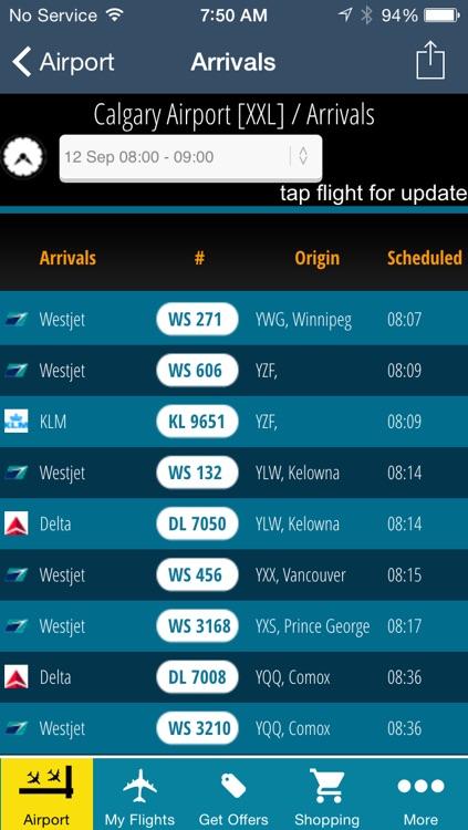 Calgary Airport Pro (YYC) Flight Tracker