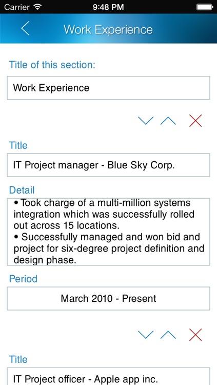 Resume design studio - Professional and stylish resumes designer screenshot-4