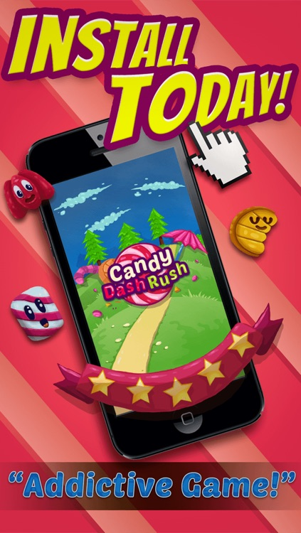 Candy Dash Rush Puzzle Games - Fun Match3 Crush Game For Cool Kids Over 2 FREE Version screenshot-4