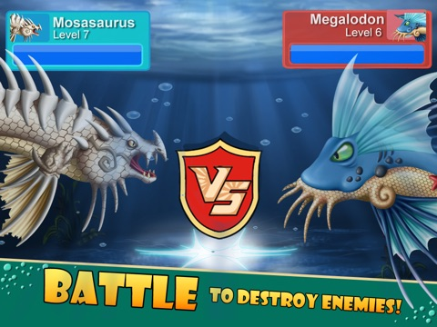 Sea Monster City - Monsters evolution & battle games для iPad