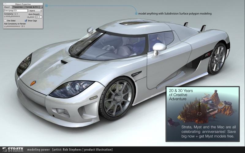 Strata Design 3D CXi скриншот программы 1