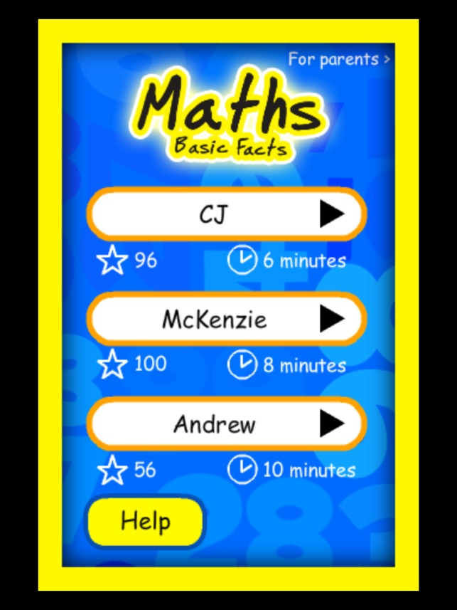 Maths Basic Facts on the App Store