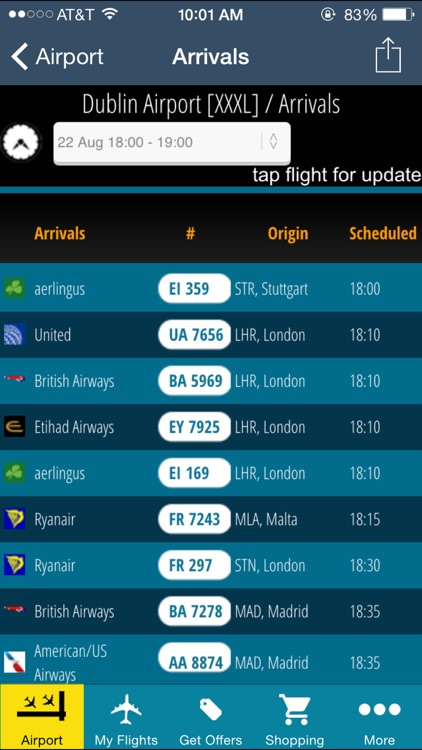Dublin Flight Information + Flight Tracker (DUB)