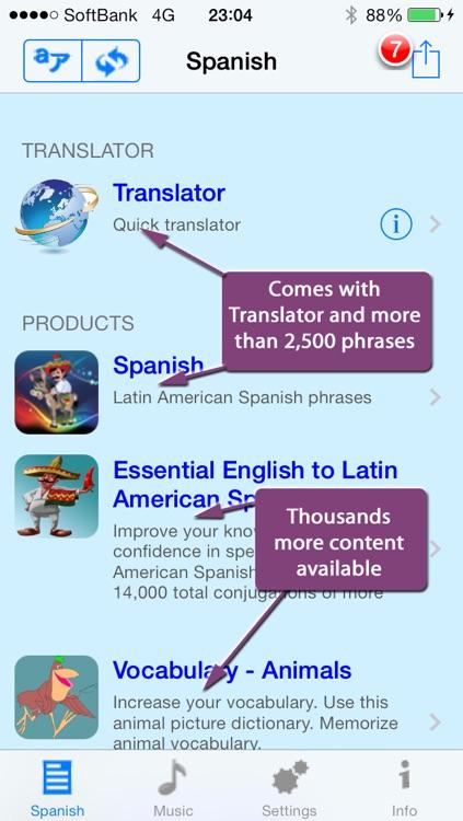 Spanish - Talking English to Spanish Phrasebook + Translator