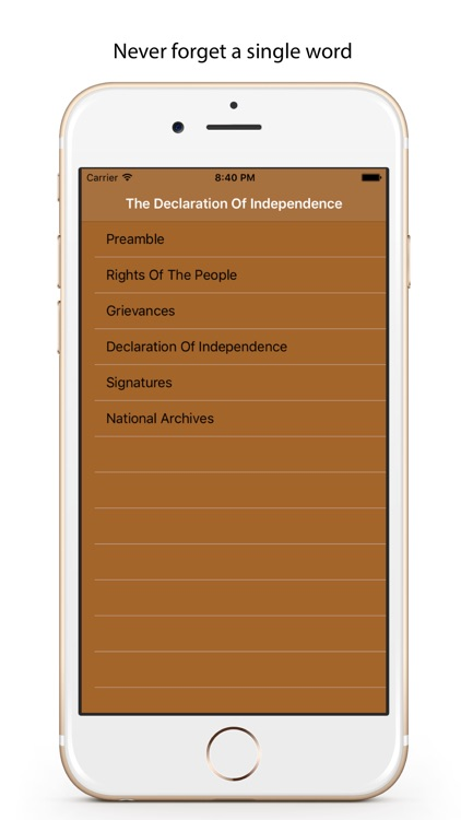 Transcript Of The U.S. Declaration Of Independence
