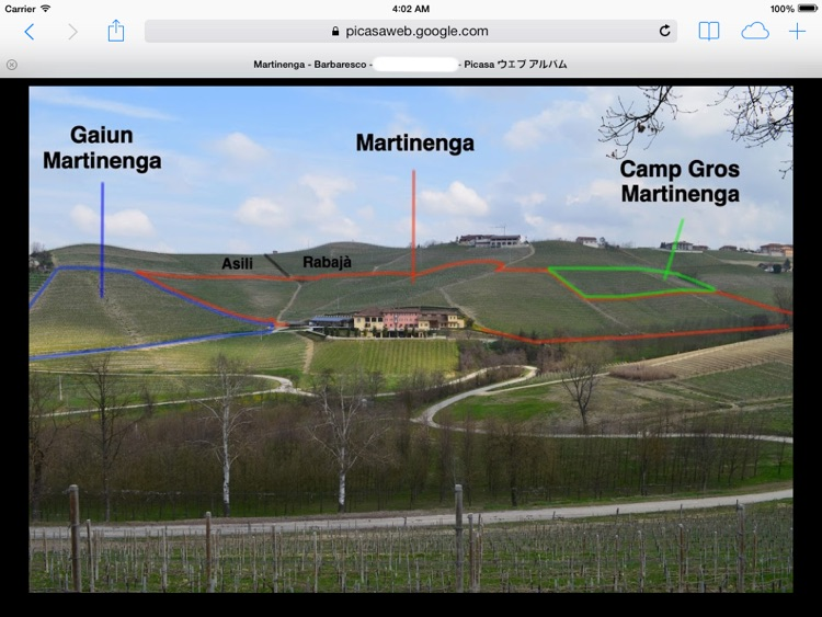 Barbaresco Wine Map