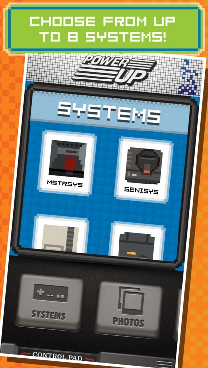 PowerUp - Retro 8-bit Video Game Camera