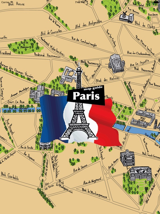 Paris Offline Map Guide for iPad screenshot-4