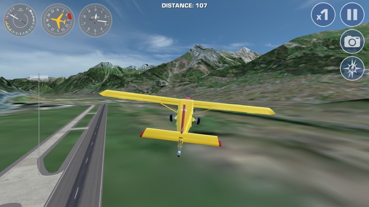 Airplane Fly the Swiss Alps Flight Simulator
