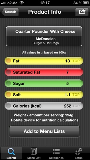 Uk Fast Food Restaurant Nutrition Menu Finder Calories Counter