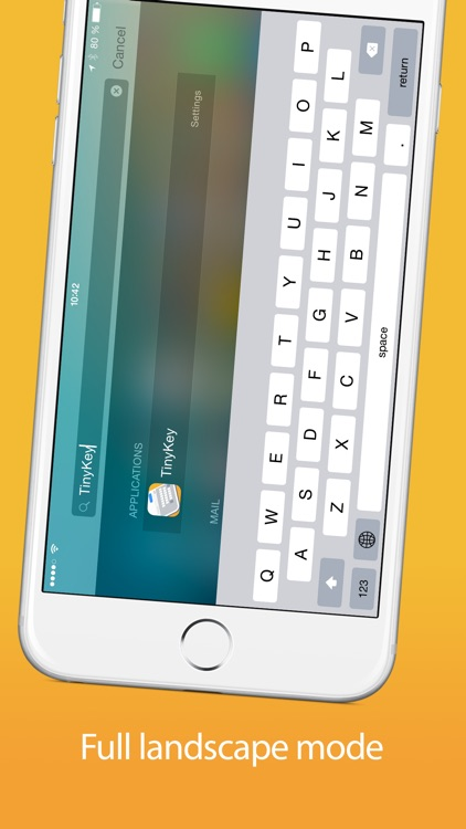 TinyKey - One handed keyboard for iPhone 6 & 6 Plus screenshot-4