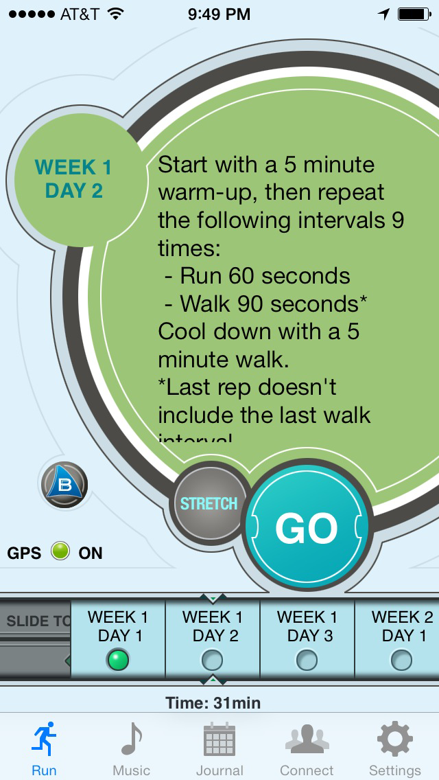 Ease into 5K: run walk interval training programのおすすめ画像2