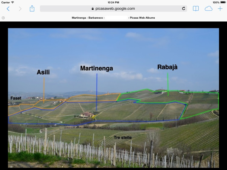 Barbaresco Wine Map Free
