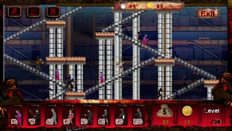 A Zombie Mall Defence Tower 8bit Pixel Game - Full Version