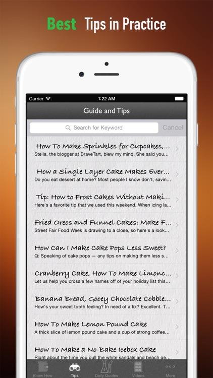Cake 101: Beginner's Guide with Tutorial Video screenshot-3